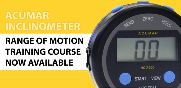 ACUMAR RANGE OF MOTION TRAINING NOW AVAILABLE